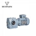 REDSUN SA series helical worm gear reducer with AC motor 3
