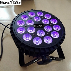 18x10W  LED flat wash par light  RGBWA+UV 6in1