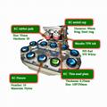双色输送带油盅移印机 2