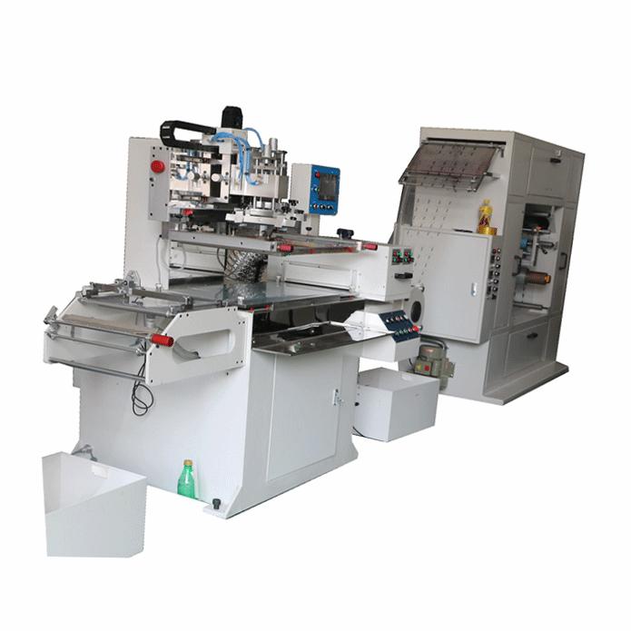 全自动单色商标丝印机 5