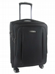 Popular 1680D 4 spinner wheels built-in aluminum luggage case