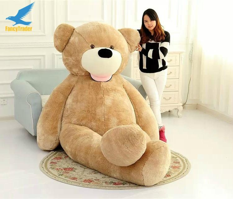 big soft plush toy,christmas wholesale giant brown skin teddy bear 340CM  4