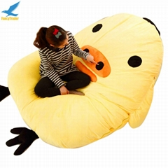 Surper Soft Light yellow Giant Tweety Bird Bed Sofa Carpet Mattress Bean Bag for