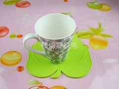楓葉硅膠杯墊