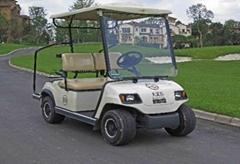 两座电动高尔夫球车