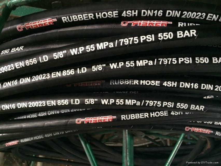 High Pressure Steel Wire Spiraled Hose DIN EN 856 4SH Hydraulic Hose Manufacture 3