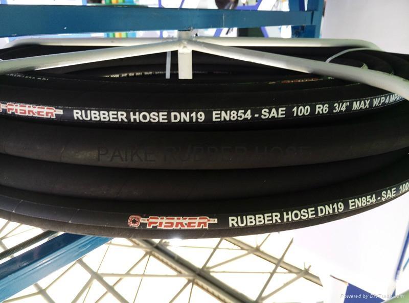 SAE100R6 Hydraulic Rubber Hose 1