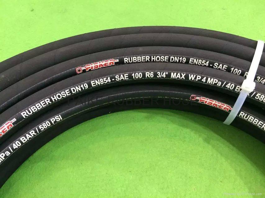 SAE100R6 Hydraulic Rubber Hose 3