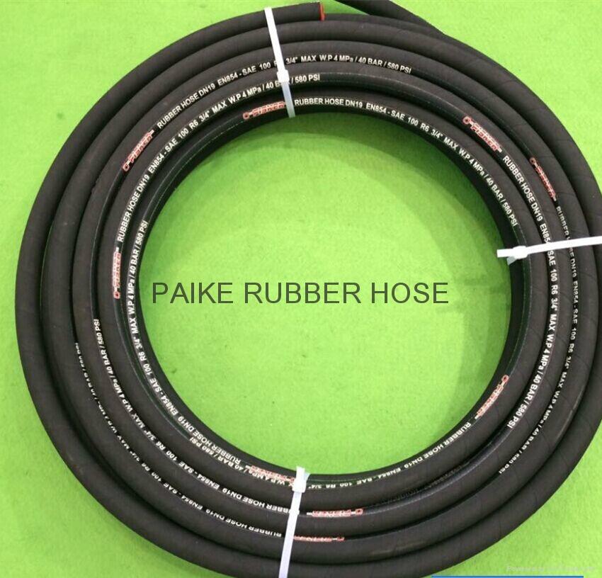 SAE100R6 Hydraulic Rubber Hose 5