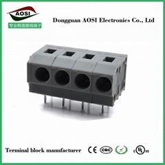 弹簧式PCB接线端子DG235W 5.0mm间距低款连接器 FS1.5-XX-500-07