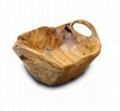 Wood  Root Medium Flat Cut Bowl With
