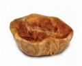 Wood  Root Medium Flat Cut Bowl With Handles 2