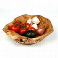Wood  Root Medium Flat Cut Bowl With Handles 5