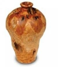 Wood  Carved Small Root Urn