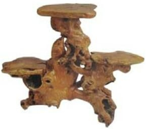 Handly Carved Fir  Root Wood  Flower Stand 3