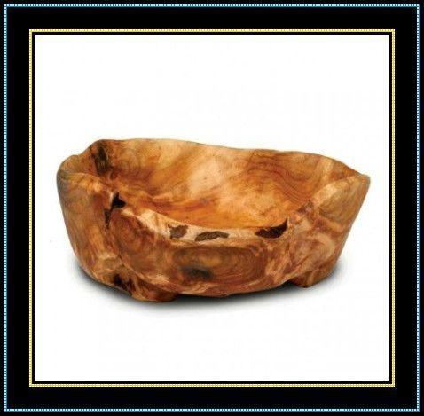 Wooden Fir Root Medium Flat Cut Bowls 1