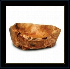 Wooden Fir Root Medium Flat Cut Bowls