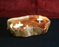 Wooden Fir Root Medium Flat Cut Bowls 3