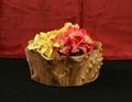 Wooden Fir Root Medium Flat Cut Bowls 4
