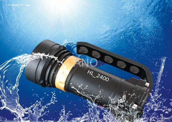 ANO 2400lumen Diving Scuba  light underwater photograph torch waterproof 200M  3