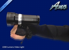 Ano V2200S  2200 lumens high power scuba photograph and video diving led torch
