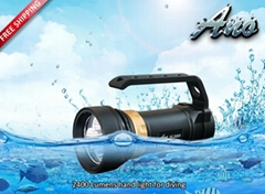 ANO 2400lumen Diving Scuba  light underwater photograph torch waterproof 200M
