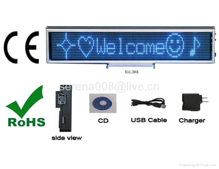 High quality SMD P2.5 Usb rechargeable led sign display board 4