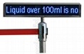 High quality P4.0 matrix 22''Lx4''H LED Message Moving Sign Display 5