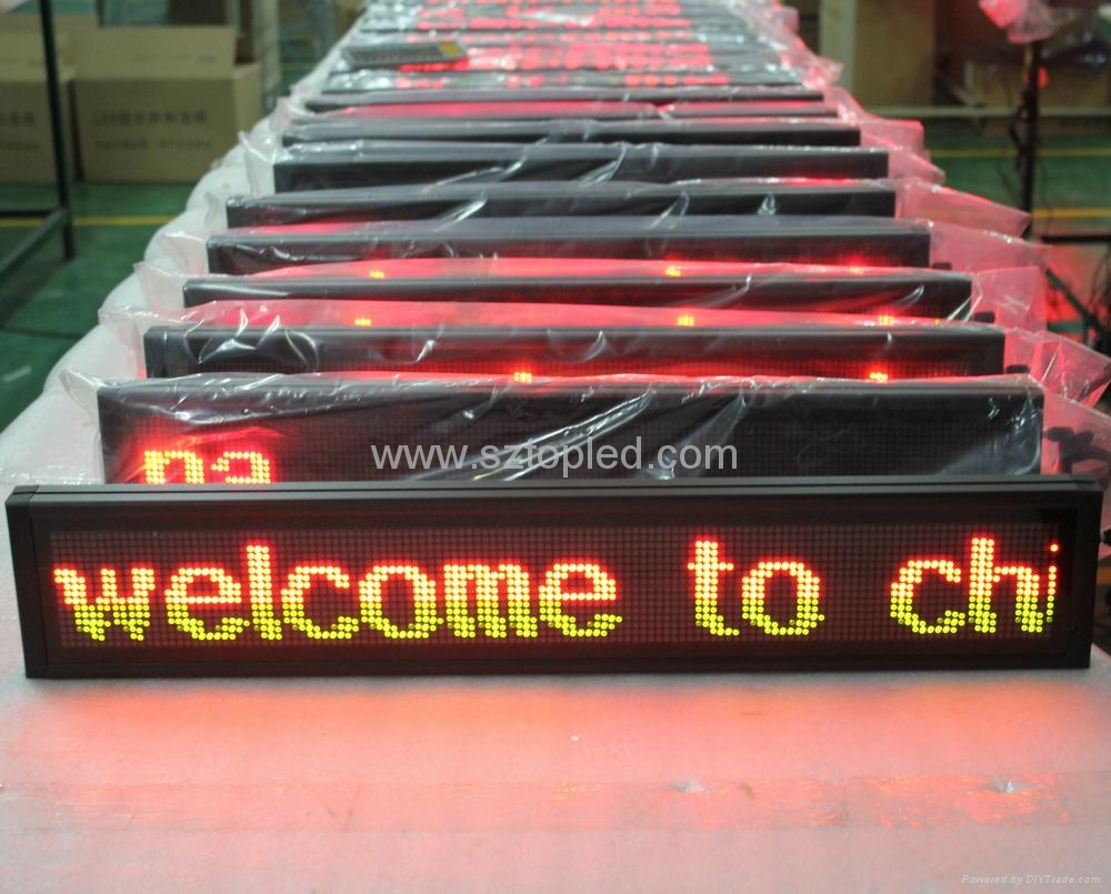 High brightness PH7.62 Led message display board led bus sign 1