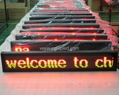 High brightness PH7.62 Led message display board led bus sign
