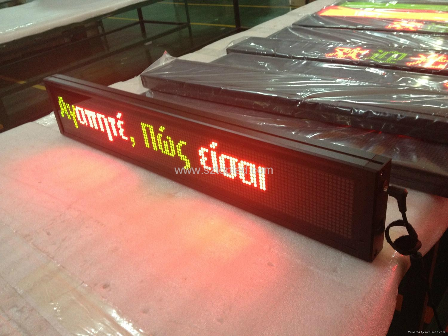 High brightness PH7.62 Led message display board led bus sign 2