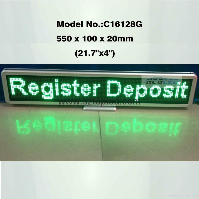 P4.0mm Matrix led table display board led moving message display small 2