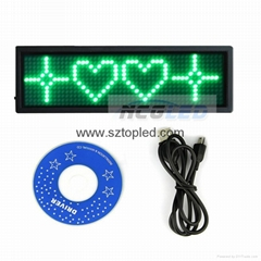 USB rechargeable led name tag messge badges mini displays  board