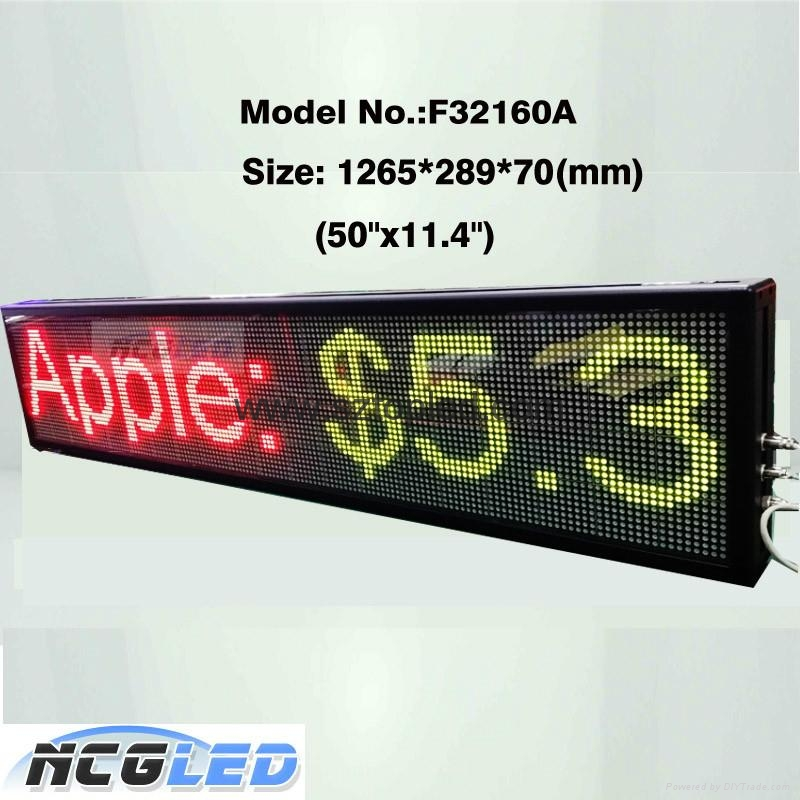 Top quality Shenzhen Factory price P7.62 indoor tri color  led moving sign 1