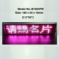 Pink color tabletop LED moving sign display boards for exhibitions/ariport use