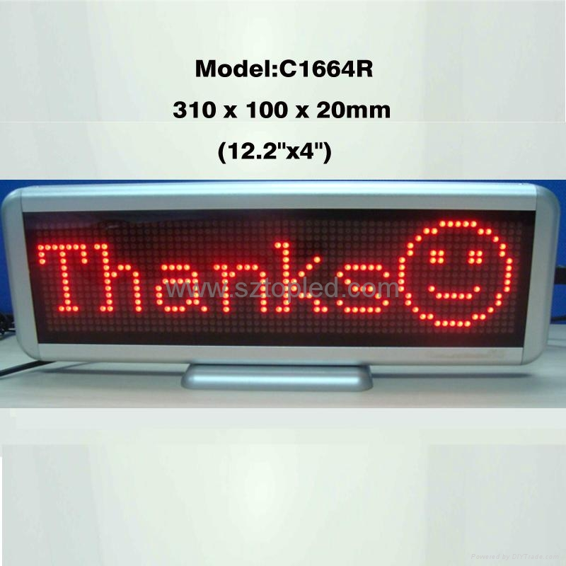 (Direct manufacturer)led mini sign LED message display for shop/super market use 2