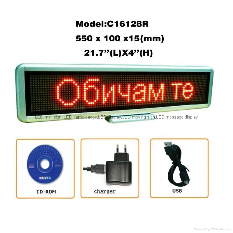 (Direct manufacturer)led mini sign LED message display for shop/super market use 1