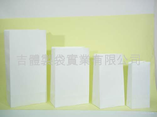 White kraft paper bag without handle