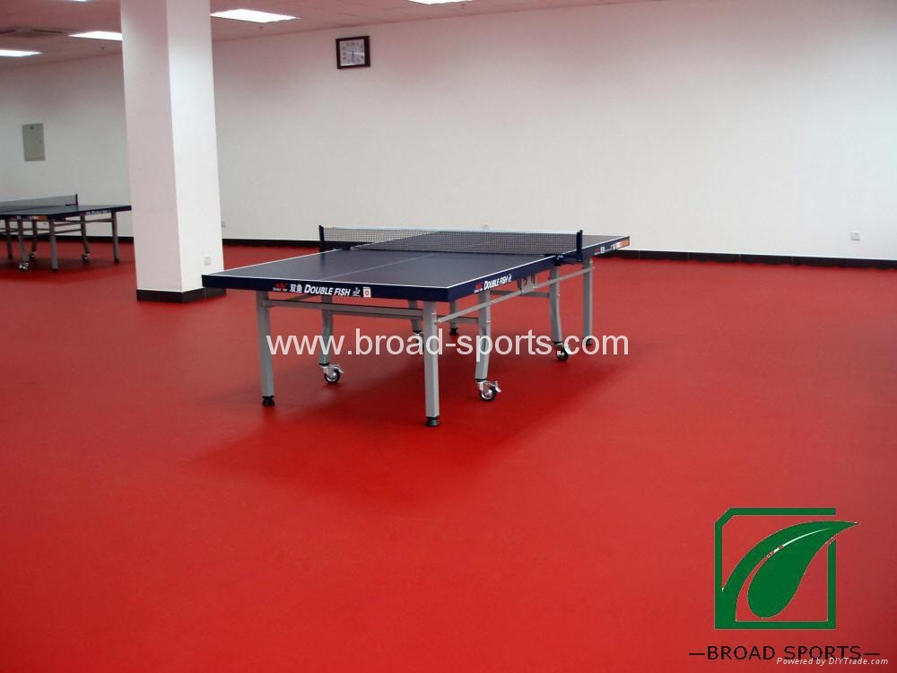 Super Durable Vinly Table Tennis Court Sport Flooring with 4.5mm thickness 2