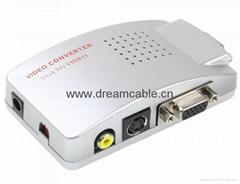 VGA to TV Video AV Signal Converter Switch Box