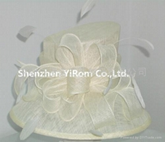 YRSM14169 Sinamay wedding bridal derby church hat