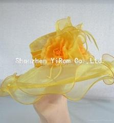 YRSM14130 organza hat