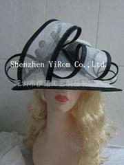 高档女士麻纱帽