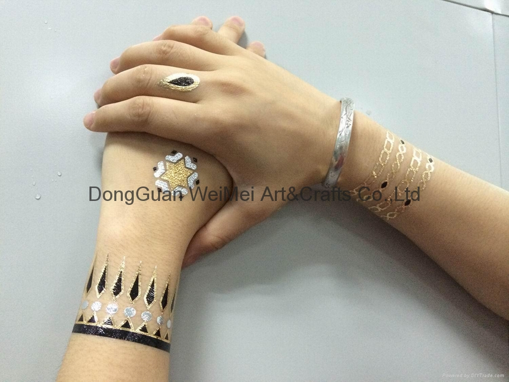temporary metallic gold tattoo stickers dgwemei china