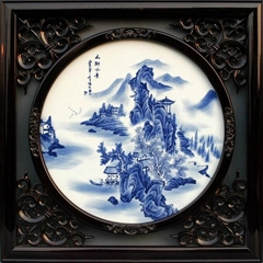 景德镇釉下青花瓷板画