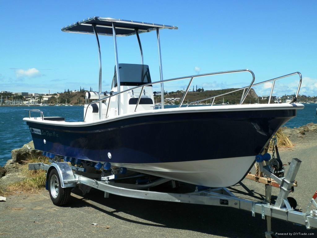 Liya 19feet 50hp fishing boat fiberglass ce imports boat for Sport fishing boat manufacturers