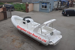 Liya 8.3m/27feet rigid inflatable boat with outboard motor