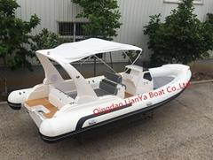 Liya 7.5m/24.6ft hypalon pvc inflatable boat