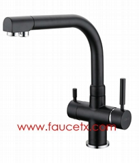 Painted Kitchen sink faucet 3 way water filter taps