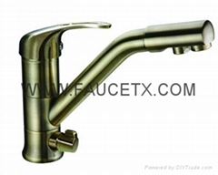 Factory Direct Antique Bronze 3 Way Kitchen Faucet Water Filter Taps Price